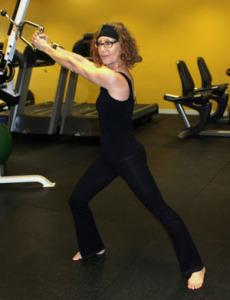 Kandance Stamer Bernal weight training